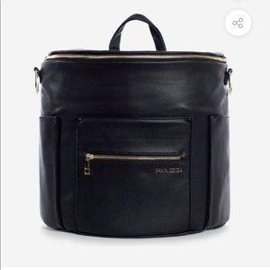 FAWN DESIGN DIAPER BAG, NEVER USED, BLACK